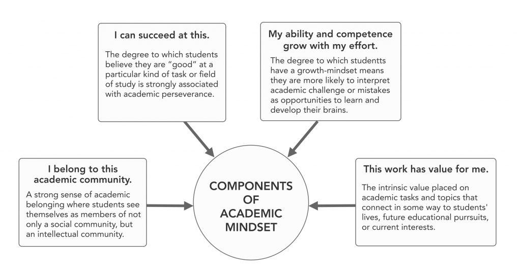 Figure 7.1 Components of Academic Mindset